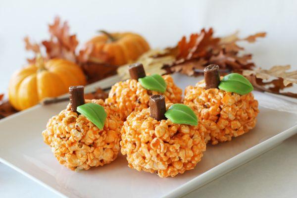 Pumpkin Popcorn Balls