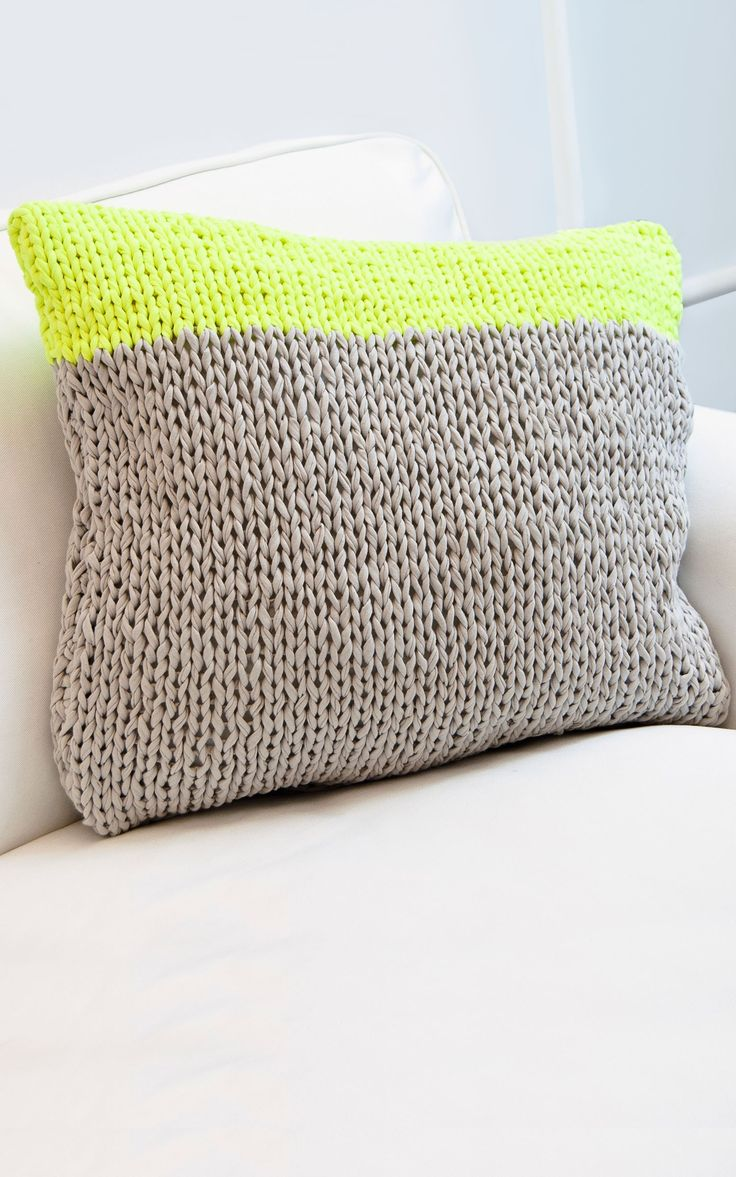 Knitted Fabric Yarn Cushion | Mahogany Throwpillow from We Are Knitters | DIY Project Ideas
