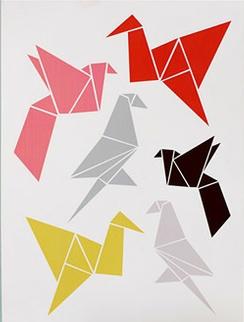 "Origami Bird Print. Haven: ""I like that""."