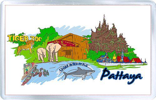 Acrylic Fridge Magnet: Thailand. Pattaya