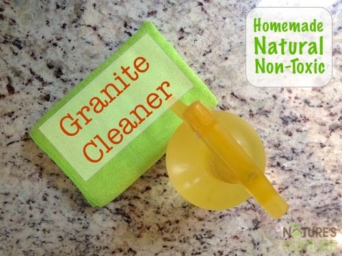 Granite cleaner. Says also for wood floors (no vinegar) Alcohol, water, dish/Castile soap, EO.   Have you heard of my homemade floor cleaner? If you've tried it, you know that it really functions as an all-purpose cleaner for most surfaces around the home, especially in the kitchen. The only surface that it can't be used on (besides hardwood floors) is granite countertops because the cleaner includes vinegar (an acid) in …