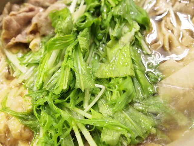 水菜使い切り♪豚肉と大根のはりはり鍋の画像