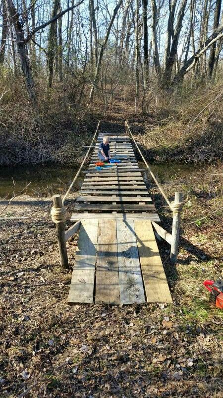 Diy Pallet Bridge Only Took 2 Days To Finish And Cost
