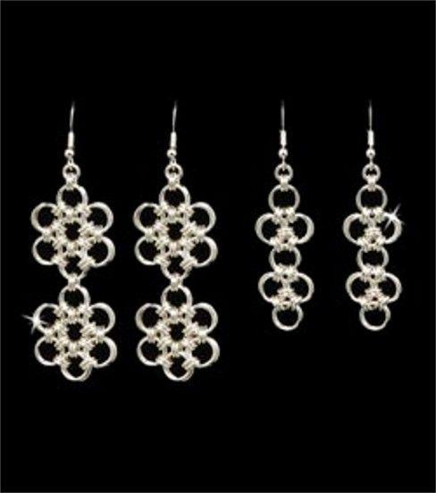 Chain Maille Japanese 6-in-1 & Lattice Earrings Jewelry Kit-1PK/Silver