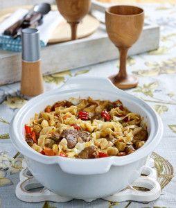 Μοσχαράκι γιουβέτσι με λαχανικά και χυλοπίτες