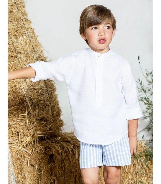 CAMISA NIÑO BLANCA PILAR BATANERO. Camisas blancas niño