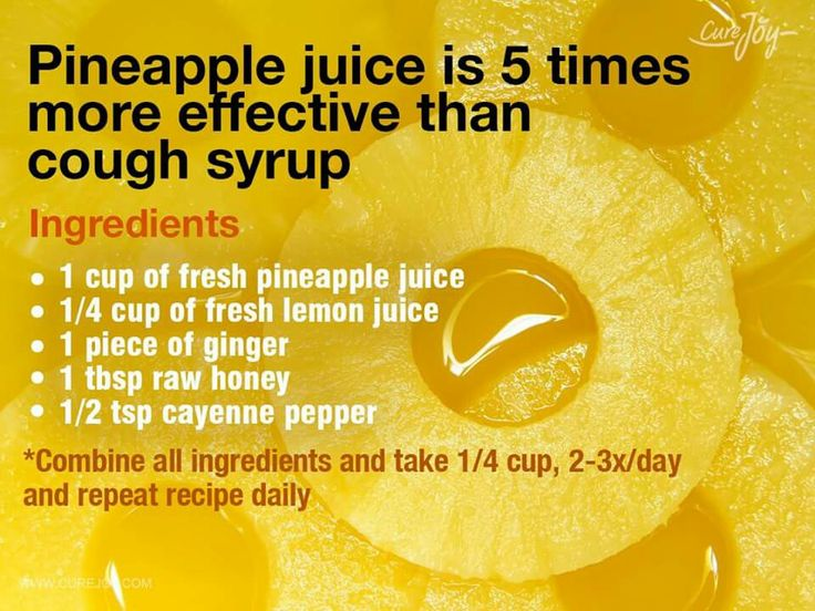 Pineapple juice for coughing