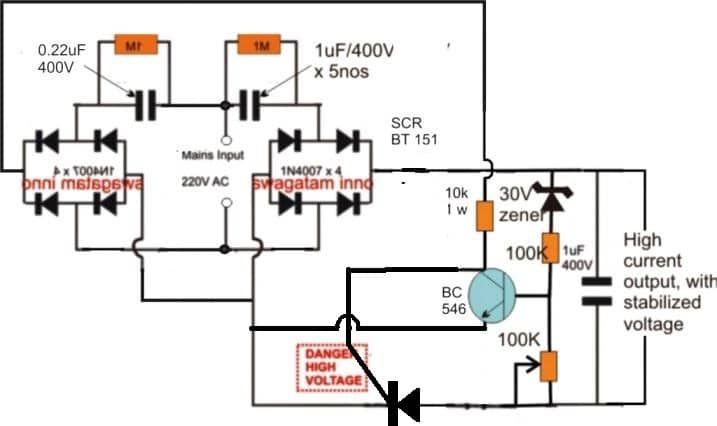 High Current Transformerless Power Supply Circuit S Izobrazheniyami