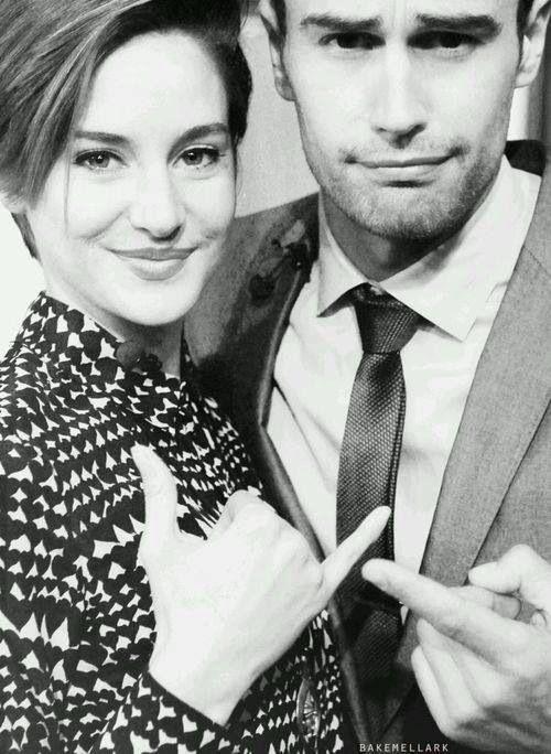 Theo James & Shailene Woodleyeo James and Shailnie