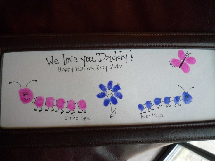 Thumbprint Father's Day ARt · Lesson Plans | CraftGossip.com