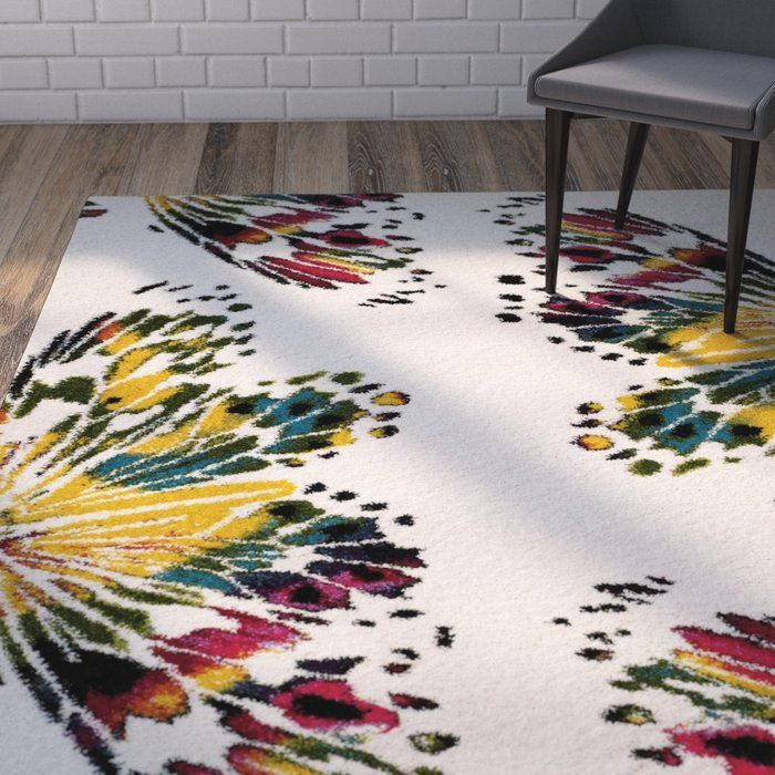 Helmuth Red/Yellow Area Rug