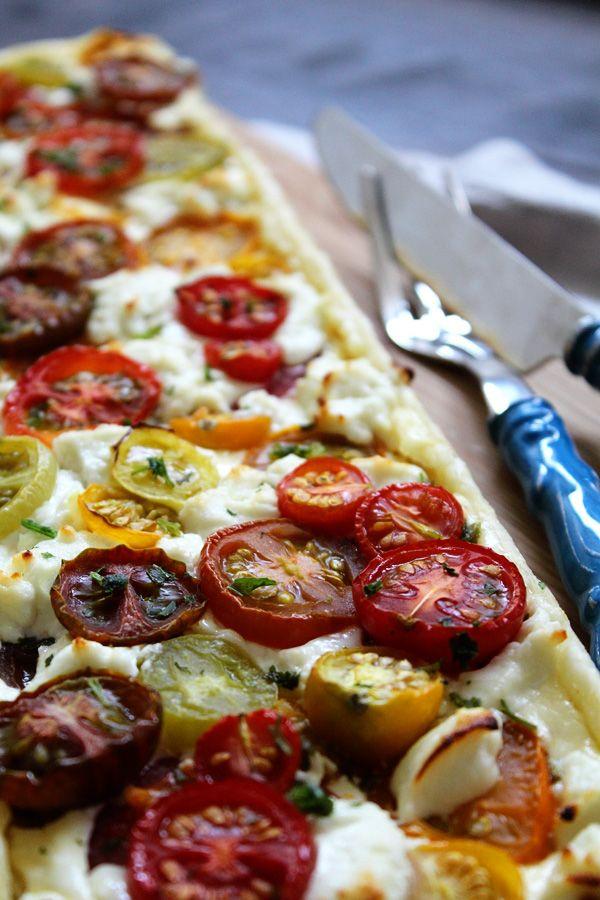 Tomaten-Tarte mit Ziegenkäse › Schön und fein
