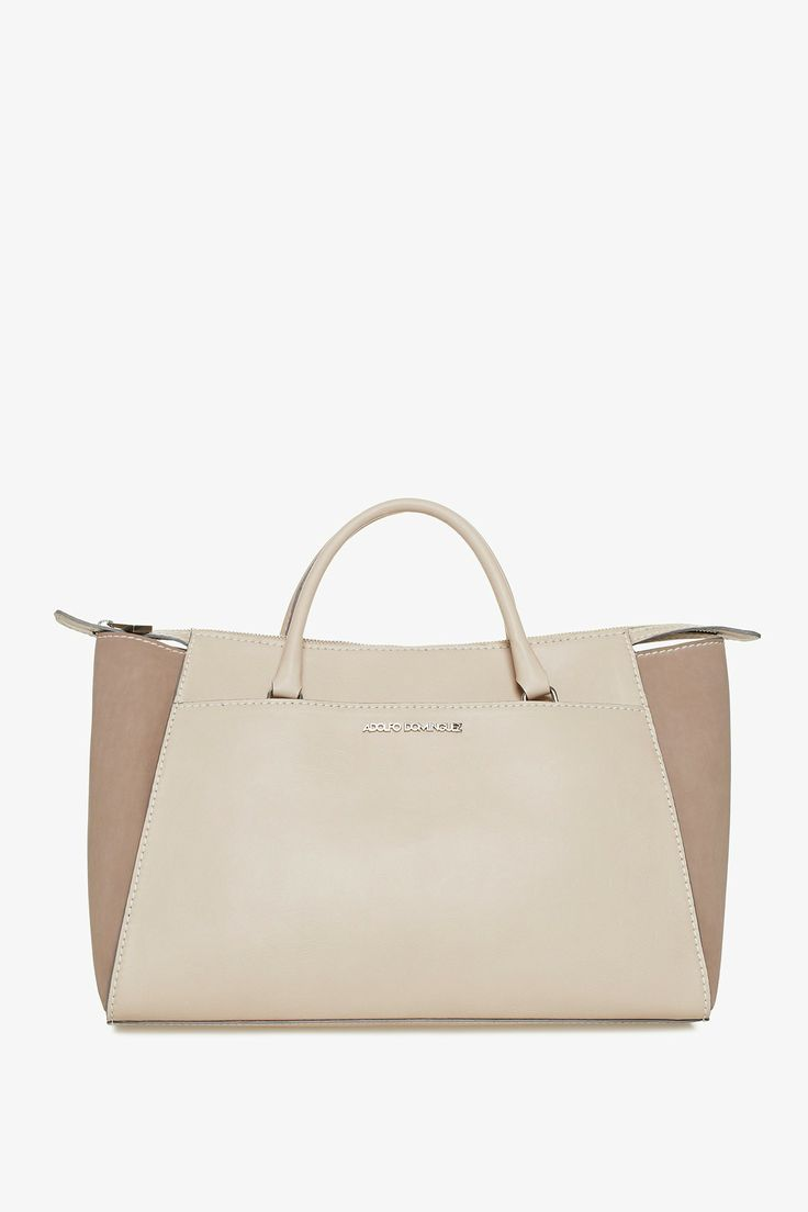 eco leather shopper bag tote bags adolfo dominguez