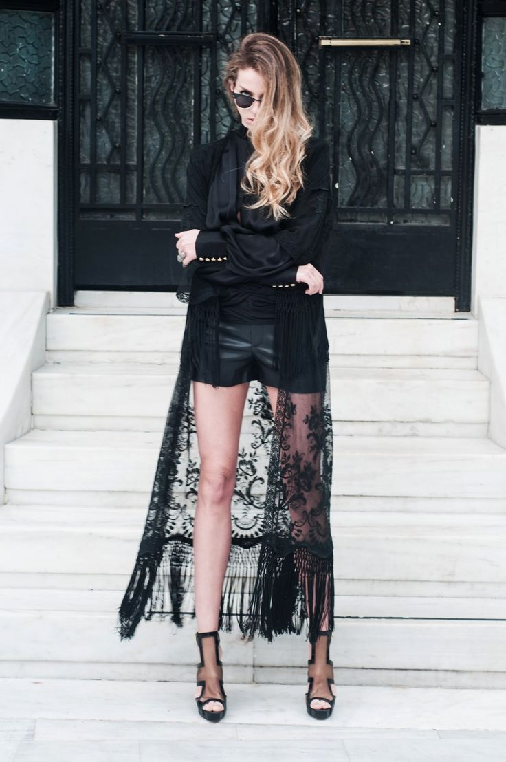 I love this lace. It could be made in a pull on skirt also just to wear over what ever black you were wearing!
