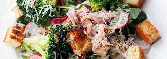 + sałatka tuńczyk, brokuły
