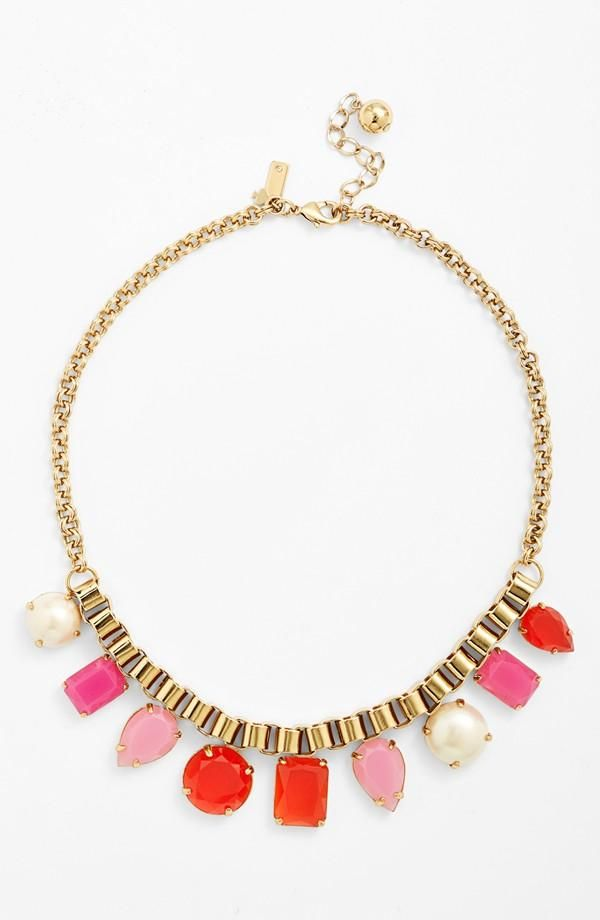 Love the pop of color this Kate Spade necklace brings to every outfit.