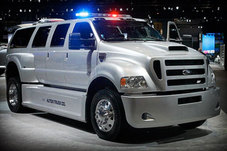 F650 Custom by Alton Truck.. You'll be safe during the Zombie apocalypse if you place your order now for one these Ford F-650-based SUVs ($200,000) from Alton Truck Company. This 7-door beast features an insane amount of body work and packs in a Caterpillar 7.2L C7 ACERT engine with 230 hp and 660 lb.-ft. of torque. While the hoards of undead are smashed outside, you can enjoy hardwood floors, custom captain's chairs, wireless computer stations and a 42-inch plasma TV inside.