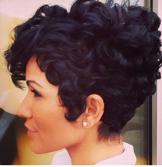Short And Curly Hair Today Pinterest