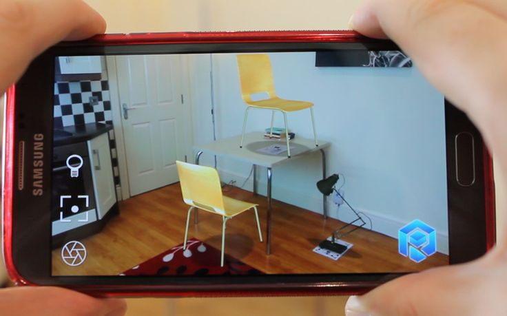 REALITY: point the camera at any tracker to put a model on it - or fling a model between trackers #augmentedreality