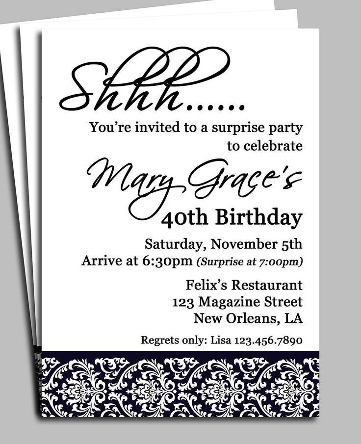 Unique Free Birthday Invitation Templates Ideas On Pinterest - Birthday invitation template jpg