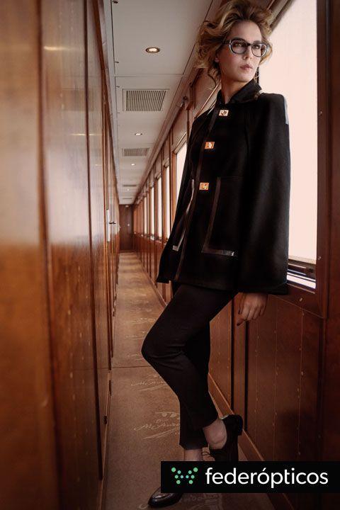 Dandy outfit #Robertotorretta Colección 2014 #federopticos #glasses #tendencias #moda Gafa de pasta negra y transparente