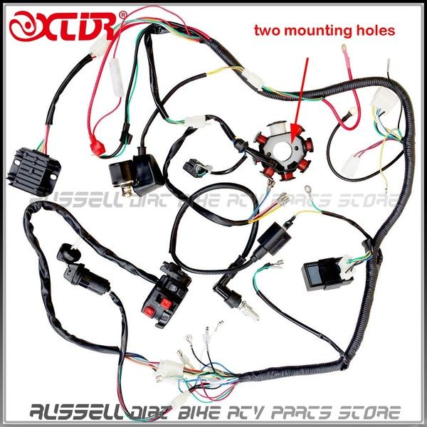 Complete Electrics Kit Wire Loom Key Solenoid Magneto Coil Regulator Cdi Wiring Harness 150cc 200cc 250cc Atv Parts Quad Bike Wish 250cc 250cc Atv Atv Quads
