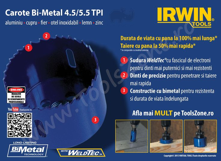 Carote Bi-Metal 4/6 TPI 38 mm IRWIN