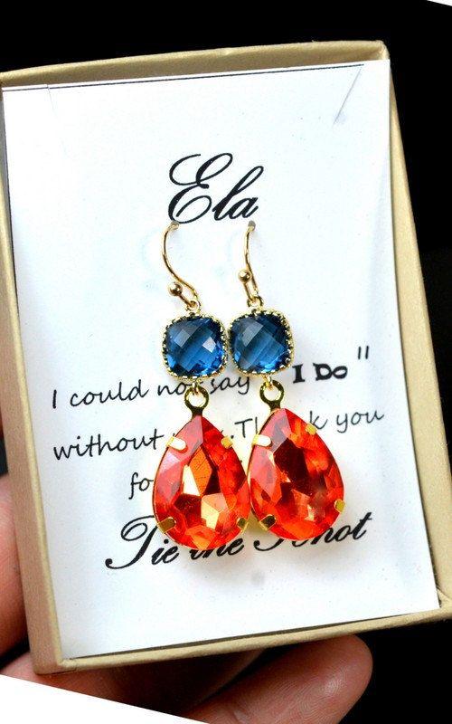 Wedding JewelryBridal Earrings Bridesmaid by thefabbridal3 on Etsy
