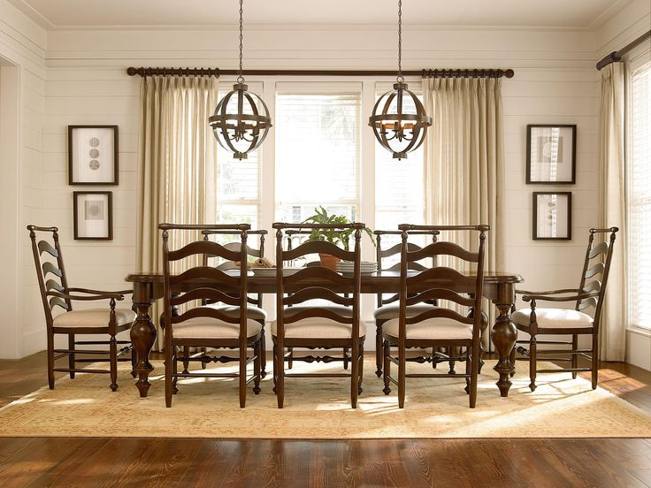 Paula Deen By Universal River House 9 Piece Dining Set With Paulas Host Hostess Chairs