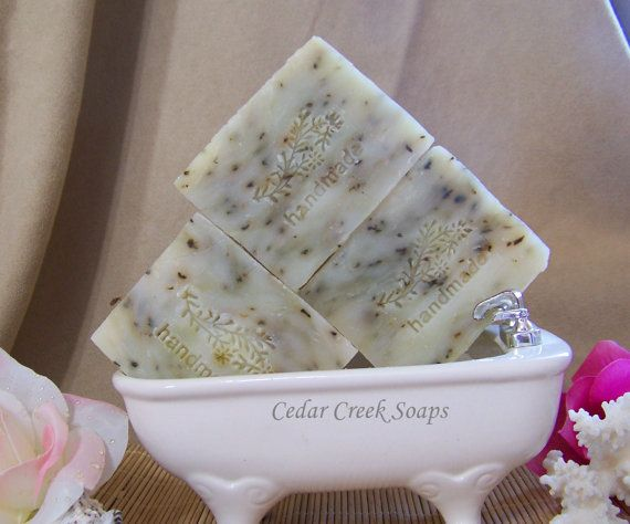 Peppermint Tea Tree Soap Cold Processed Soap by CedarCreekSoaps1, $5.00