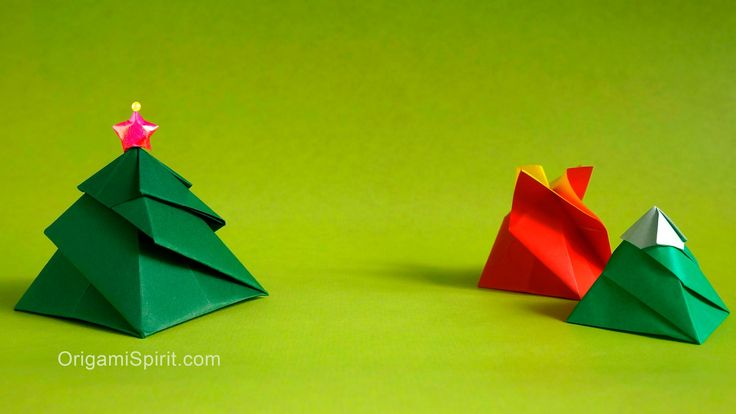 Origami tutorial and video. How to make a 3 variations of a box: Flower, Mount Fuji, Christmas Tree. SUBTÍTULOS EN ESPAÑOL Presented with permission from des...