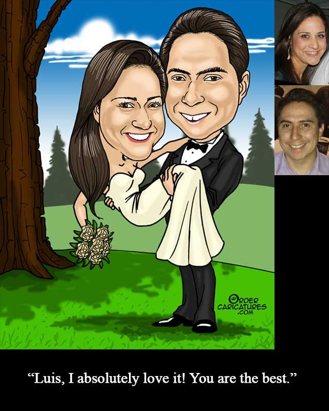 Anniversary Caricature gift - Order online NOW