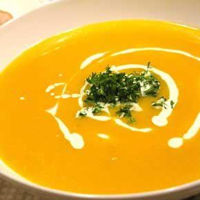 Pompoen wortel soep