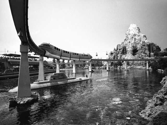 Black-and-white photos of Disneyland to celebrate the park's 60th anniversary.