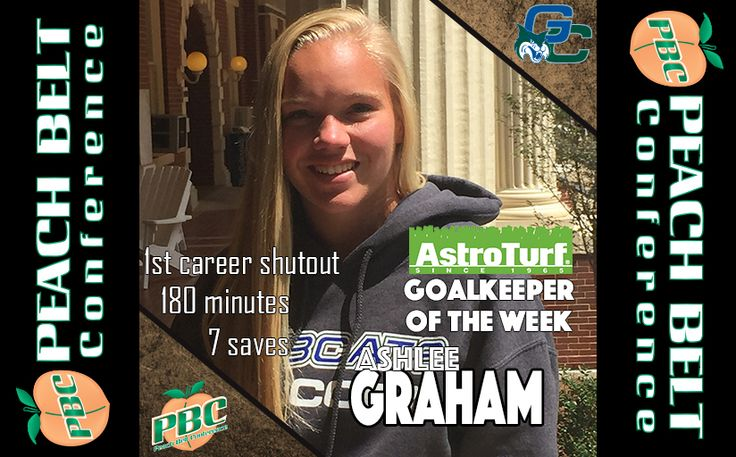 Women's Soccer Goalkeeper of the Week: Ashlee Graham, Georgia College