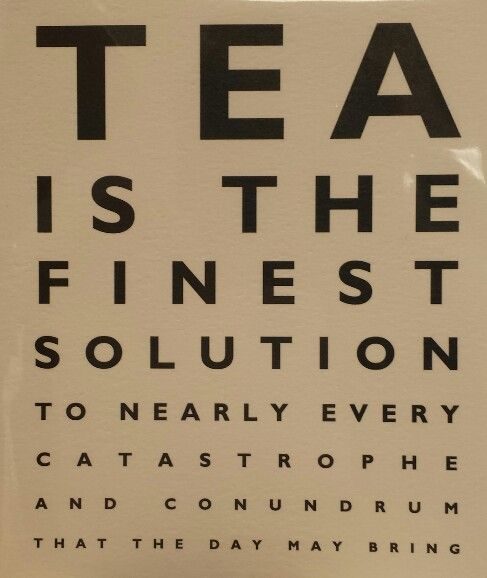 Tea is the solution!