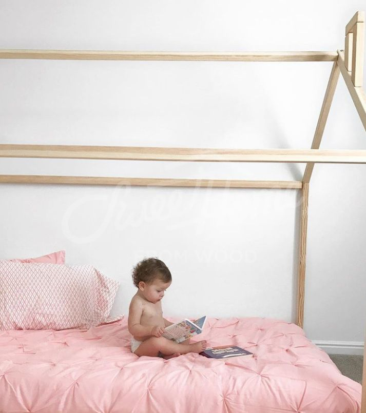 Children Bed Toddler Bed Play Tent Baby Bed Wooden Bed House Bed Nursery Crib Teepee Bed Montessori Furniture Baby Room Christmas Gift Slats Kid Beds Bed Tent Toddler Bed