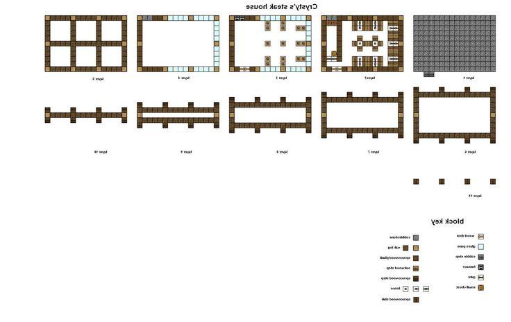 minecraft house blueprints layer by layer 06 minecraft