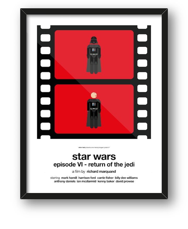 "Sweden-based graphic designer Viktor Hertz (of pictogram movie posters and honest logos) has just released his latest project on Kickstarter. The two-frame pictogram movie poster series takes some of your favorite films, like Star Wars, Forrest Gump and Pulp Fiction, and turns them into clever before and after-style illustrations. ""Think of it as an extremely short film, summarizing the story and visualizing the changes the characters go through,"" he states. The project started off as a…"