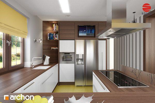 Behance :: Create Project Dom w anyżku. Dom jednorodzinny, parterowy z poddaszem użytkowym. Do dyspozycji: 5 pokoi, kuchnia, 2 łazienki, spiżarka, kotłownia, kominek, garaż. Więcej informacji na naszej stronie internetowej: http://archon.pl/gotowe-projekty-domow/dom-w-anyzku/m435e35183449e