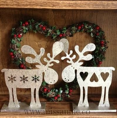 1938 best Holiday Ideas images on Pinterest Christmas ideas - moose christmas decorations