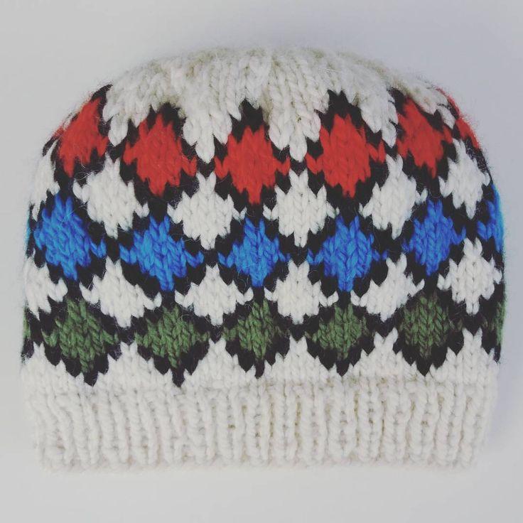 Stickad mössa med rutor. Denna är gjord i alpacka och ullgarn, fair isle, mönsterstickad.  Knitted hat in alpaca and wool, fair isle. #knittedhats  #knittingdesign  #knitting  #knittersofinstagram  #hat  #mössa  #fairisle #veronicafranssononinstagram  #sticka  #stickadmössa  #studiomagentaonfacebook  #vinter #Winter #veronicafranssononfacebook