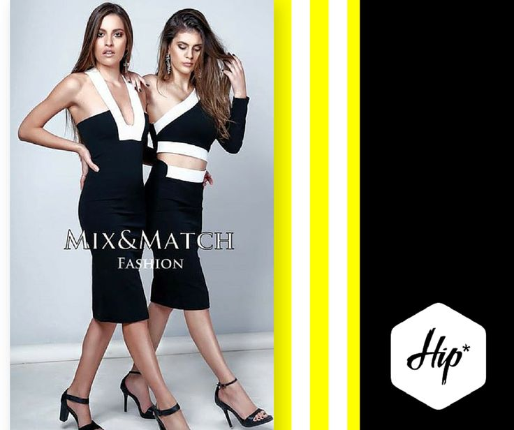 """""""Brenda"""" & """"Scarlett"""" - Mix&Match Showroom B&W Pencil Midi Dresses  #Hip #Hipyourstyle #Tshirts #Woman #Womens #Look #LookBook #Fashion #Style #Dresses #Top #MixMatch #Brand #New_In #New_Arrivals #AW15 #Colletion #Fall #Winter #Rhodes #Greece"""