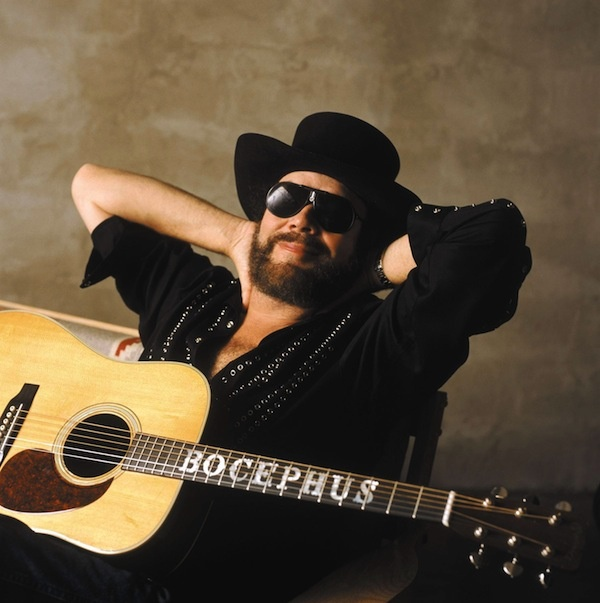 Hank Williams, Jr. (so many songs... Family tradition, There's a tear in my beer, All my rowdy friends, The blues man, and his Monday night football anthem :(((...)  Gotta luv him!!!