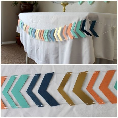 Chevron Arrow Wild and Free or Wild One themed baby shower or birthday Banner. Six feet long custom colors! $13 Handmade
