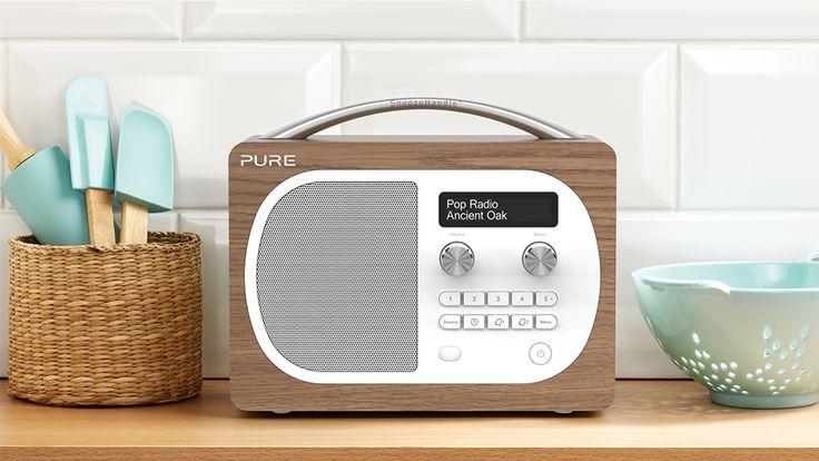 DAB radio in kitchen