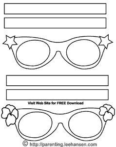 halloween craft templates | Halloween Coloring Mask, Funky Eyeglasses
