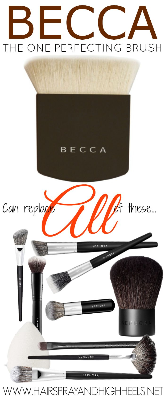 Becca The One Perfecting Brush Review via www.hairsprayandhighheels.com