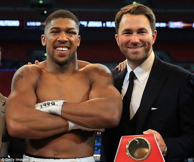 Eddie Hearn has touched down in New York to begin negotiations on behalf of Joshua