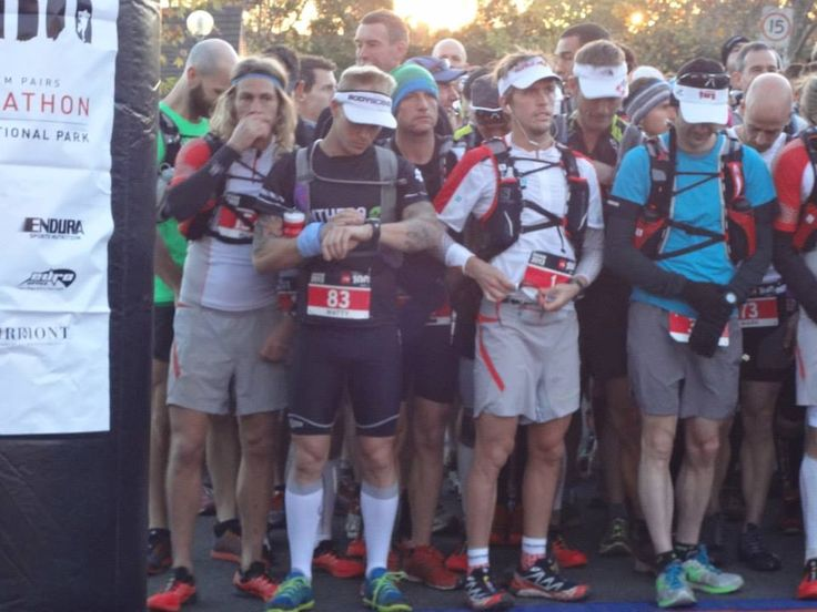 Matty Abel at the start line for TNF100 - 2013